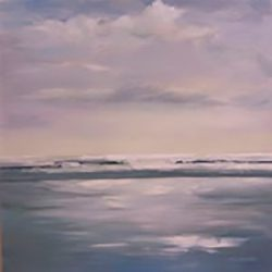 Light on sea – oil on canvas, 80cm x 80cm – sold