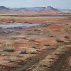 View from Jagfontein – oil on canvas, 1m x 1m – sold