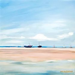 Boats – oil on canvas, 50cm x 50cm – sold