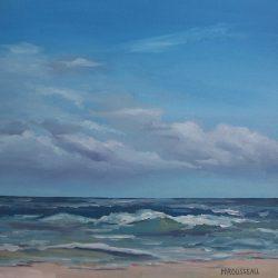 Seascape Cape Point – oil on canvas, 50cm x 50cm – for sale