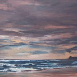 Stormy evening – oil on canvas, 75cm x 50cm – for sale
